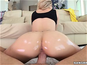 Jessa Rhodes is lubricated up and prepped to be pulverized