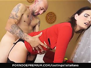 audition ALLA ITALIANA - buxom brown-haired loves humid assfuck
