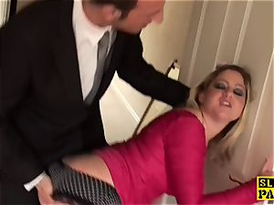 brit sub breezy Leah butt-fucked