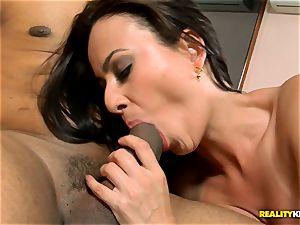 Natany Lanza getting a rock-hard treat