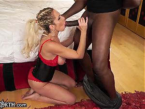 chesty ass fucking milf Nadia North vs. MANDINGO's ample schlong