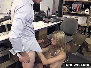 SheWillCheat - big-titted cougar boss pulverizes new worker