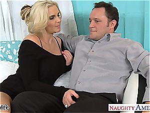 torrid wifey Phoenix Marie gets pinkish cooter nailed