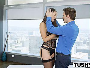 TUSHY cuckold wifey Allie Haze luvs rectal
