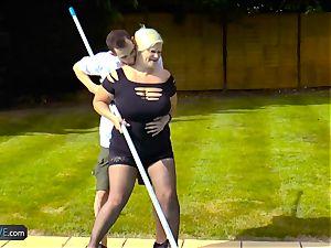 AgedLovE Lacey Starr smashing Poolboy xxx