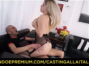 audition ALLA ITALIANA - big-chested Italian blond butt pummeled