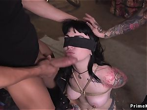 Monster mounds alt babe has three-way