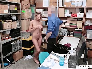 Shoplifter Emma Hix gets bang in the office by LPs shaft