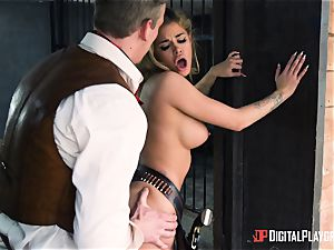 Western puss pummeling with Jessa Rhodes and Misha Cross