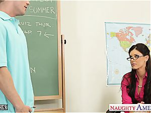 lil' breasted lecturer India Summer tear up her teen schoolgirl