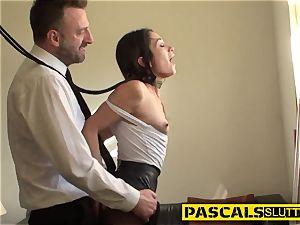 lean bondage & discipline cockslut romped