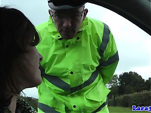 Caught wanking mature tears up patrol cop