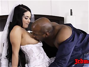 cheating bride creampied by a big black cock