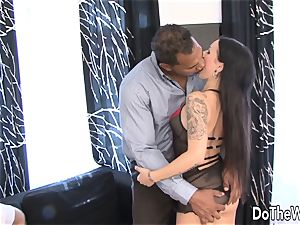 Trashy wifey pounded by dark-hued in Front of hubby
