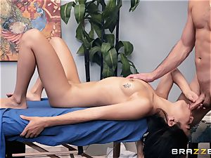 voluptuous massage turns into a sensual plow