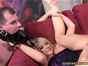 hotwife slut Leya Falcon takes ass fucking romping