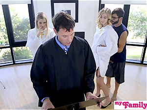 Church babe boinks step-brother Behind Dads Back! S1:E4