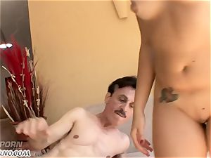 whorey school lady having bang-out with her strict educator
