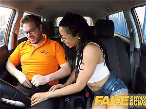 faux Driving school black american minx Kira Noir