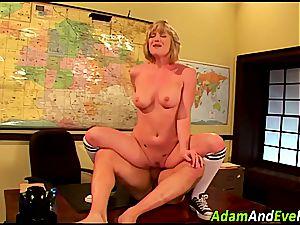 platinum-blonde Naomi rails and swallows
