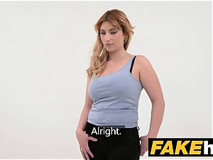 fake Agent Spanish babe with thick globes get fine plumbing