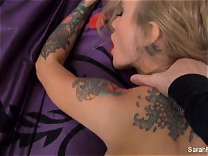 Sarah gets pounded pov style until she is glazed in spunk