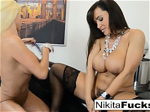 scorching Russian Nikita Von James fucks porn vet Lisa Ann