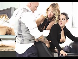 Justice League hardcore part four - Jessica Drake and Katrina Jade