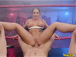 Cali Carter is the boxing cutie that luvs to stuff her tight cage