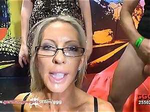 German Goo damsels beautiful milf Emma Starr mass ejaculation