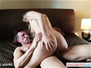 enormous titted blond Alexis Adams taking a fat wood