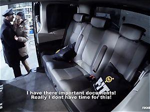 plumbed IN TRAFFIC - Czech brunette enjoys sizzling car orgy
