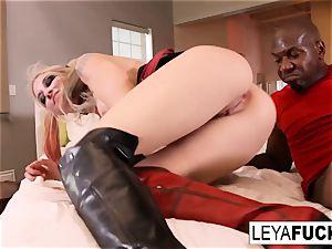 Cosplaying Leya takes Mandingo's big black cock up her donk