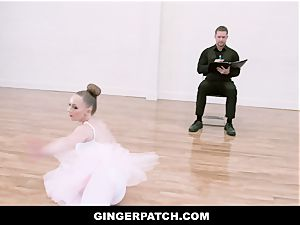 GingerPatch - redhead Ballerina railing Judges ginormous rod