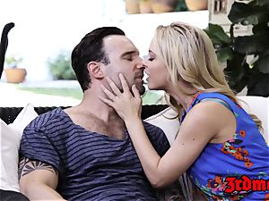 buxomy platinum-blonde cougar Cherie Deville Gets hammered rock-hard