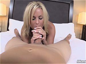 super-fucking-hot light-haired mummy internal ejaculation gusto