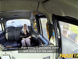 faux cab ash-blonde milf Victoria Summers plowed in a cab