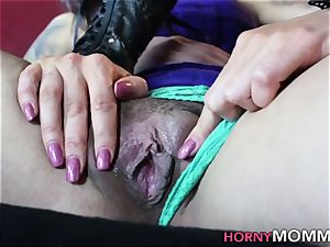 Stepmom milf in three way