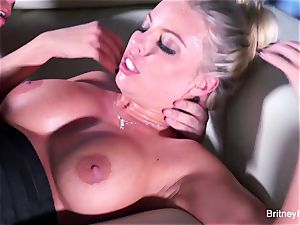Britney gets a deep stiffy and load on her rump