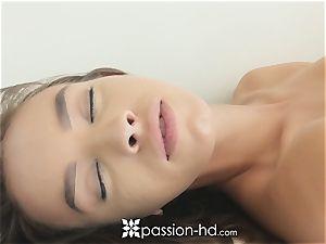 PASSION-HD sensual yoga jizm face flow
