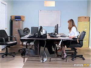 messy office honey Dillion Harper gets shafted at work