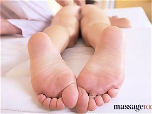 massage rooms warm French honey Tiffany rails giant man meat