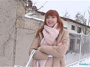 Public Agent German redhead Anny Aurora likes rod