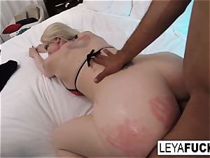 hard-core ass fucking bi-racial humping with Leya Falcon