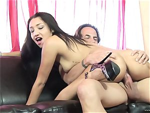 Scintillating Vicky haunt gets plastered with spunk