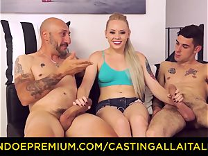 CASTNG ALLA ITALIANA - blonde vixen harsh dp romp