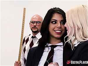 wild schoolgirl is worth to be penalized for her misbehavior