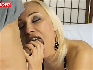 red-hot cougar gets poked hard-core in first time casting