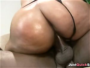 ebony stunner With big donk likes enormous ebony wood