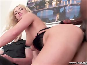 ash-blonde German Swinger wife drills bbc